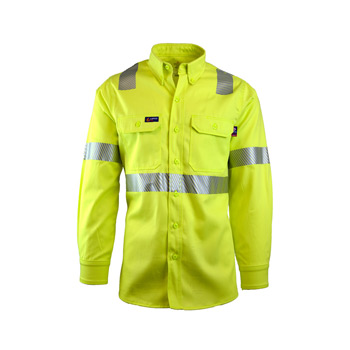 7oz. FR Uniform Shirts | Hi-Viz Class 2 | 100% Cotton